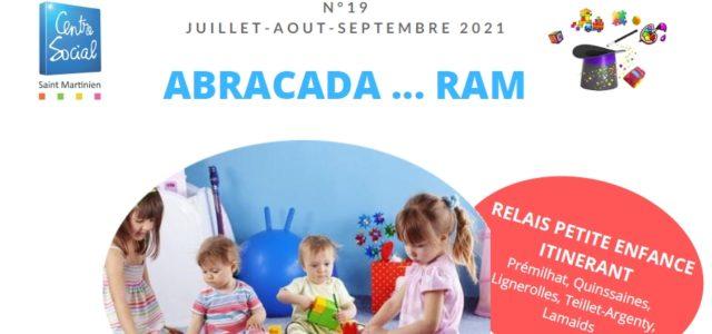 Journal du RAM juillet – août – septembre 2021 (1)  Vous trouverez les numéros précédents sur ce site à l'adresse suivante : https://saintmartinien.centres-sociaux.fr/journal-du-ram…/  Bonne lecture …  Abracada […]